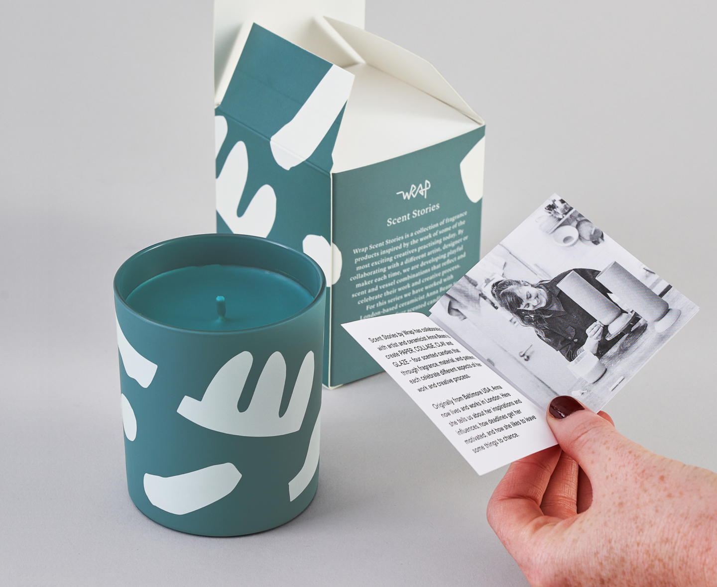 Wrap graphic design magazine scented candle